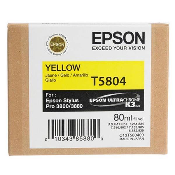 Epson črnilo T5804, 80 ml, yellow