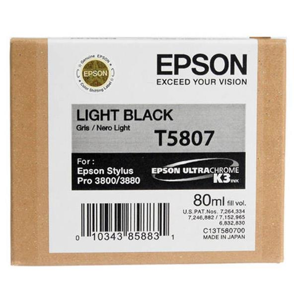 Epson črnilo T5807, 80 ml, light black
