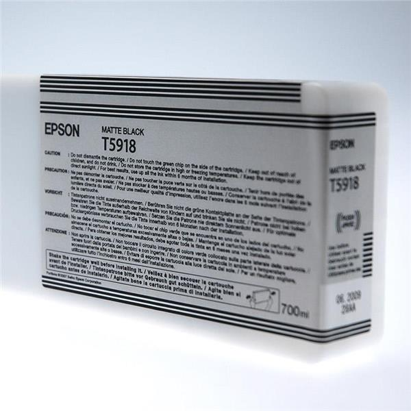 Epson črnilo T5918, 700 ml, matte black