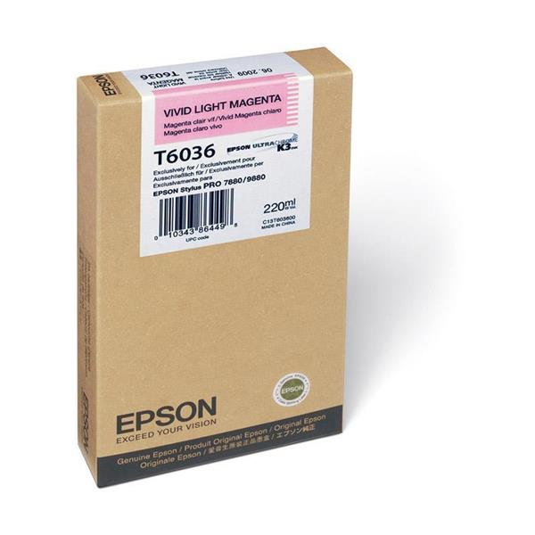 Epson črnilo T6036, 220 ml, vivid light magenta