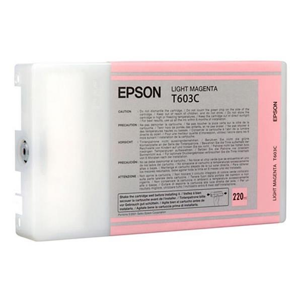 Epson črnilo T603C, 220 ml, light magenta