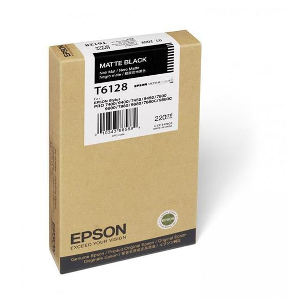 Epson črnilo T6128, 220 ml, matte black
