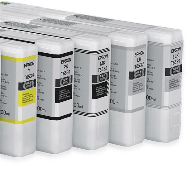 Epson črnilo T6537, 200 ml, light black
