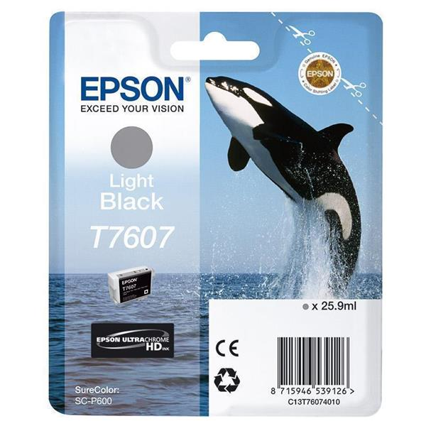 Epson črnilo T7607, 25,9 ml, light black