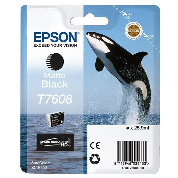 Epson črnilo T7608, 25,9 ml, matt black