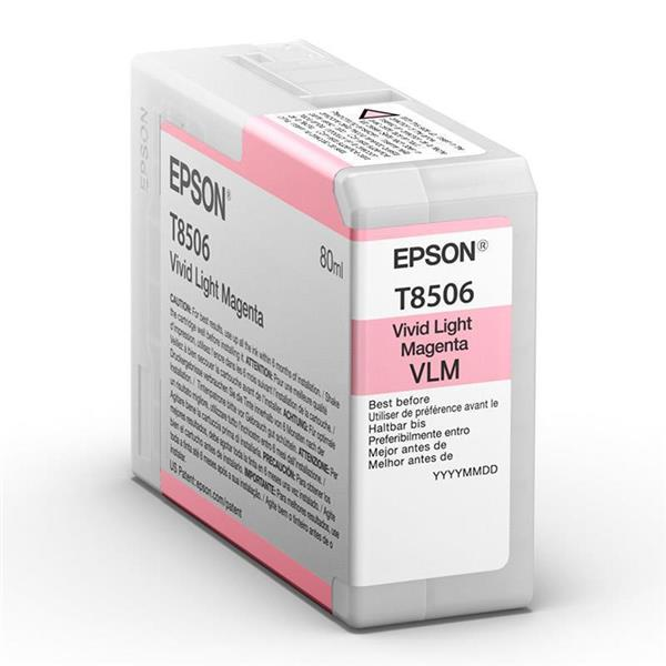 Epson črnilo T8506, 80 ml, vivid light magenta