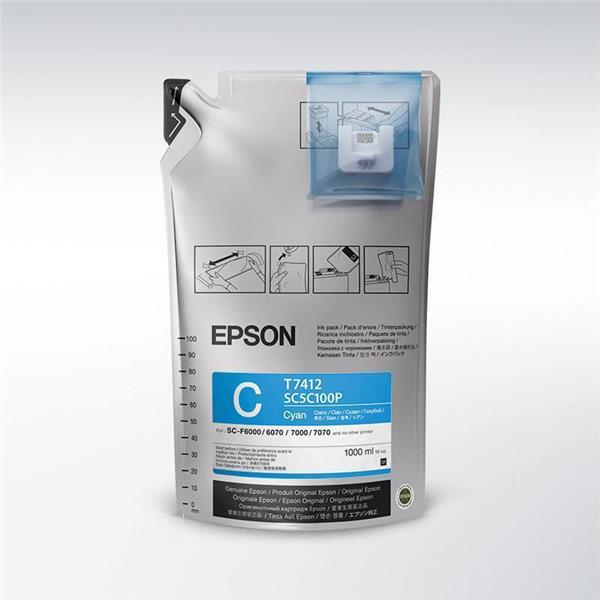 Epson črnilo UltraChrome DS Cyan, 1 l