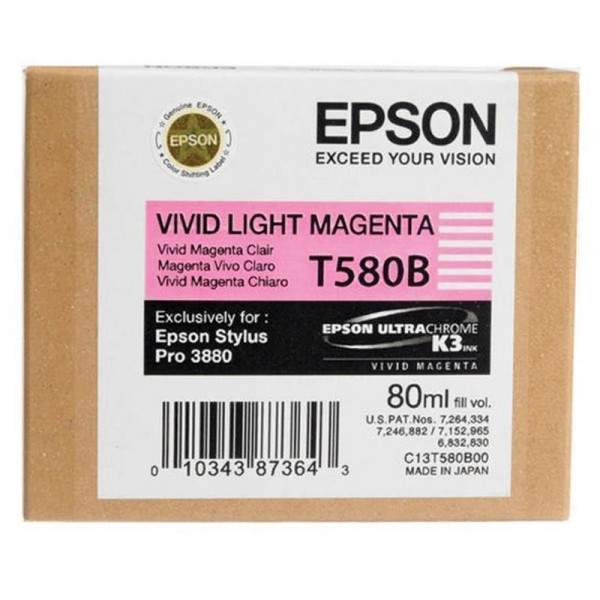 Epson črnilo T580B, 80 ml, vivid light magenta